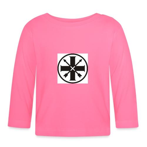 kreuz_schwarz - Baby Langarmshirt