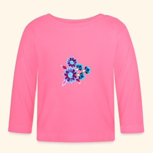 Hypnotic flowers - T-shirt manches longues Bébé