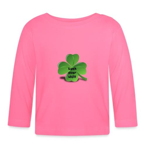 Luck over skill - Langarmet baby-T-skjorte