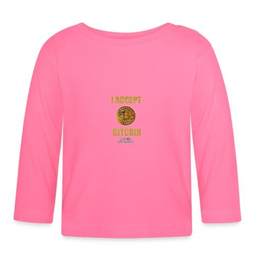 I accept bitcoin - Maglietta a manica lunga per bambini