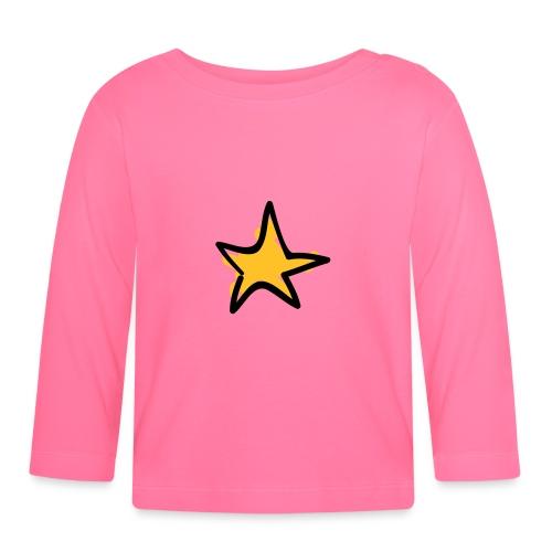 Star Line Drawing Pixellamb - Baby Langarmshirt