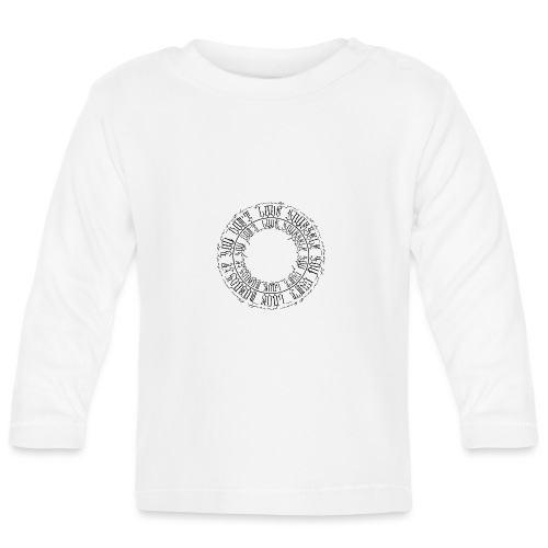 calligrafia-nera - Maglietta a manica lunga per bambini
