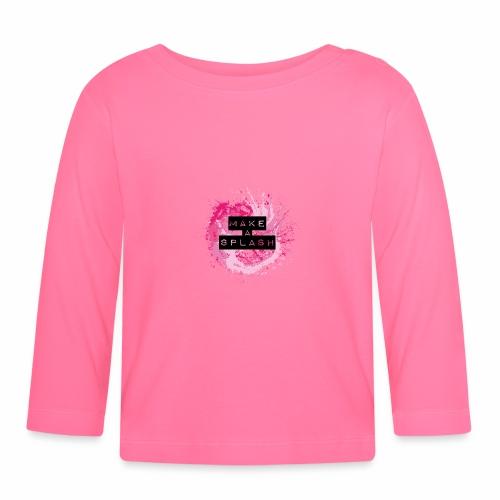 Make a Splash - Aquarell Design - Baby Langarmshirt