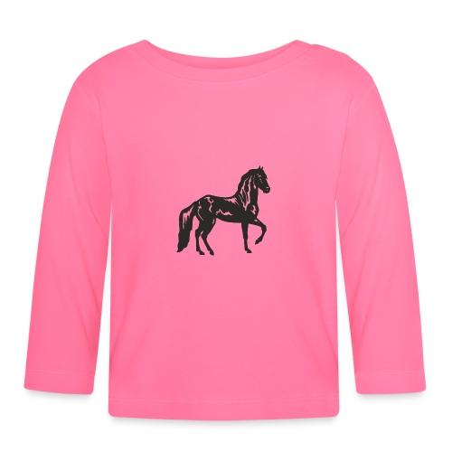 Cheval noir - T-shirt manches longues Bébé
