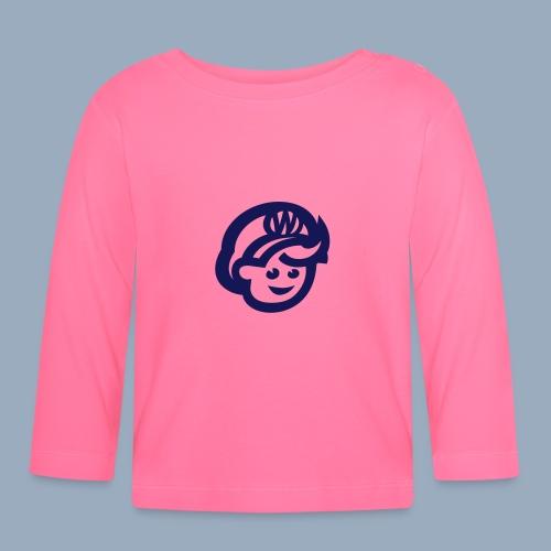 logo bb spreadshirt bb kopfonly - Baby Langarmshirt
