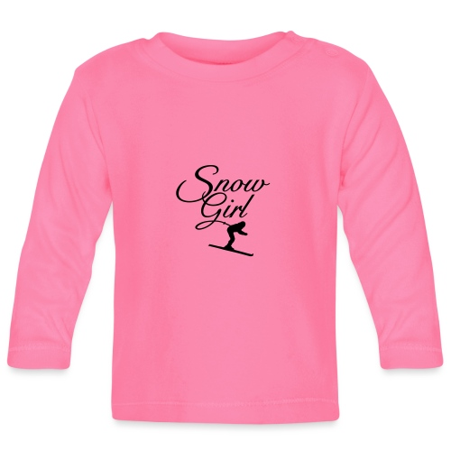 Snowgirl Ski Wintersport - Baby Langarmshirt