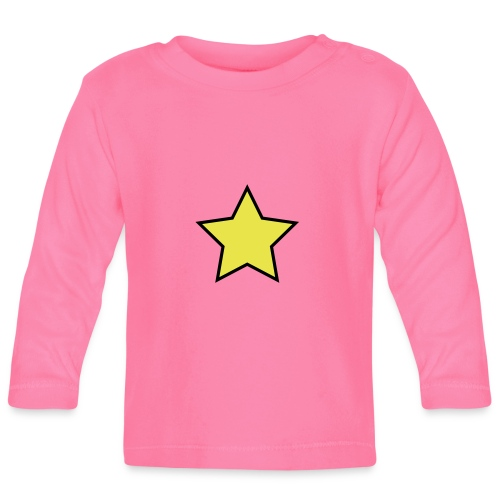Star - Stjerne - Baby Long Sleeve T-Shirt