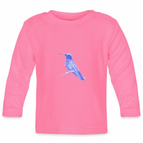 Hummingbird with ballpoint pen - Baby Long Sleeve T-Shirt