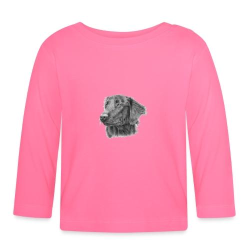 flatcoated retriever bw - Langærmet babyshirt