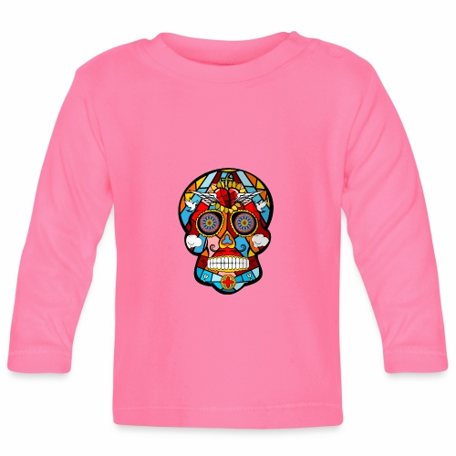 calavera mexicana - Camiseta manga larga bebé