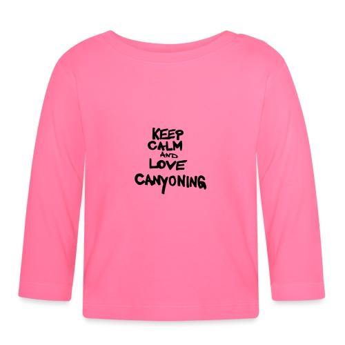 keep calm and love canyoning - Baby Langarmshirt