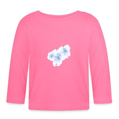 blue flowers - Koszulka niemowlęca z długim rękawem