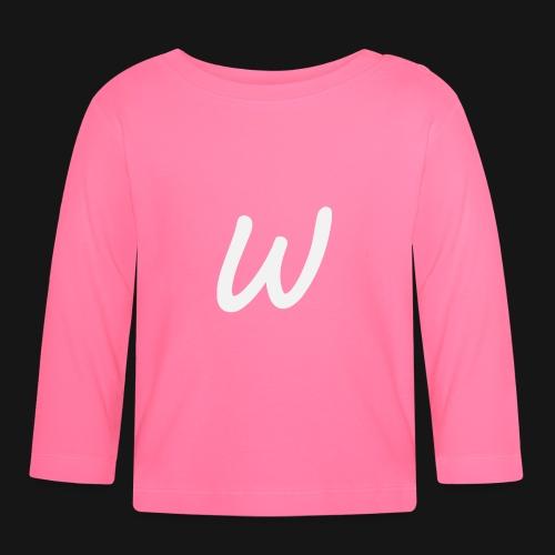 Walkeny's W in weiß - Baby Langarmshirt