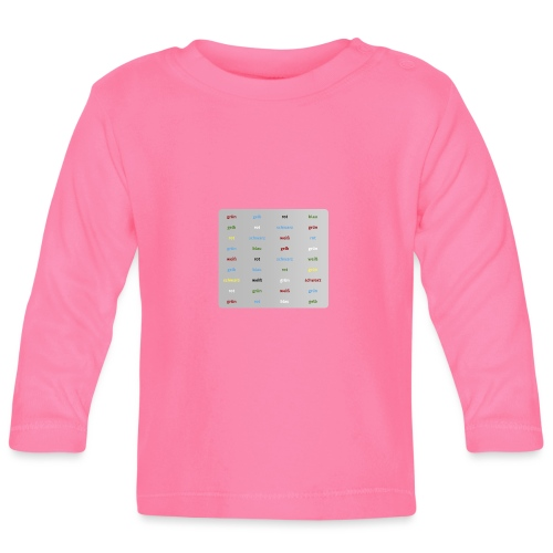 Stroop Test - Baby Langarmshirt