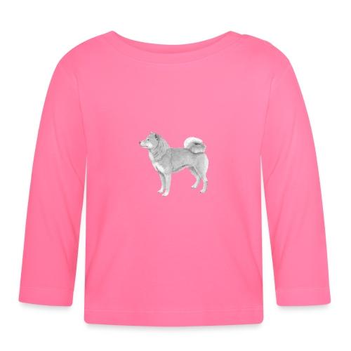 shiba inu - Langærmet babyshirt