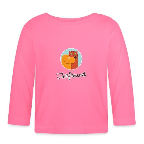 Tierfreund mit Schriftzug - Baby Langarmshirt