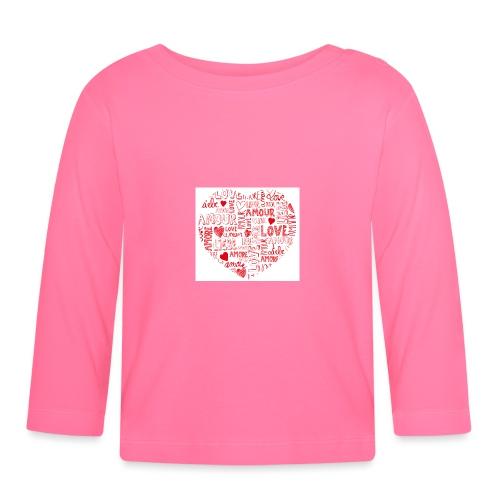 T-shirt texte amour - T-shirt manches longues Bébé