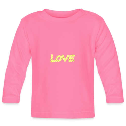 Yellow love flowers - Långärmad T-shirt baby