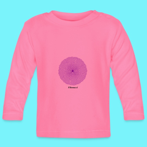 Fibonacci webs in purple - Baby Long Sleeve T-Shirt