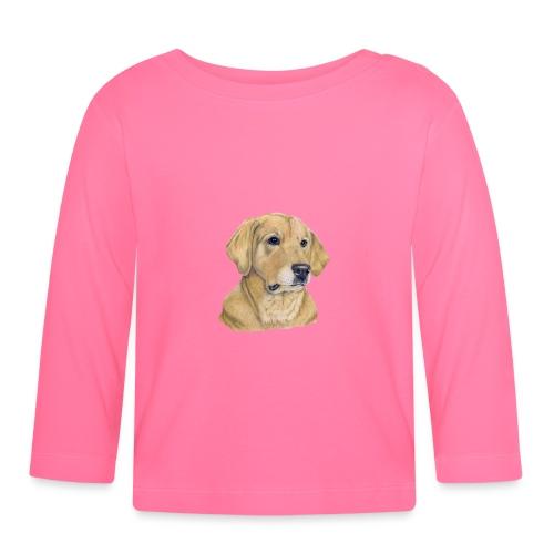 labrador yellow - pastel - Langærmet babyshirt