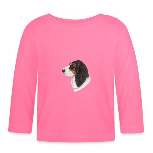 bassethound color - Langærmet babyshirt