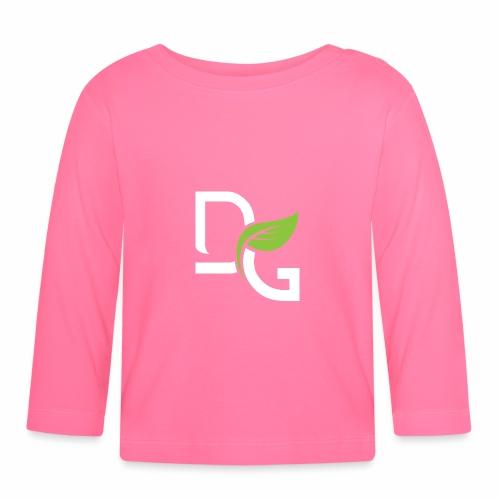 DrGreen Logo Symbol weiss grün - Baby Langarmshirt