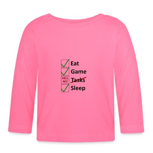 Schedule Shirt Black Version - Baby Langarmshirt
