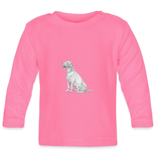 labrador Retriever Gul - Langærmet babyshirt