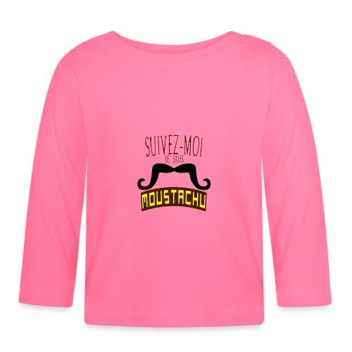 citation moustache suivez moi moustachu - T-shirt manches longues Bébé