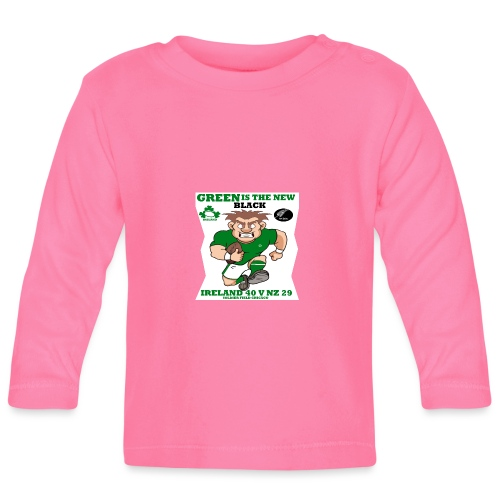 GREEN IS THE NEW BLACK !! - Baby Long Sleeve T-Shirt