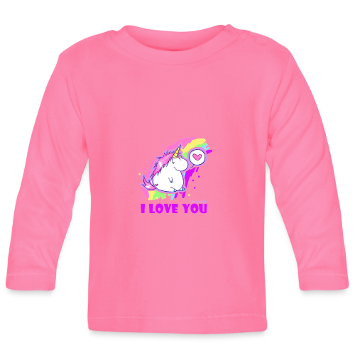 unicorn_love - Baby Langarmshirt