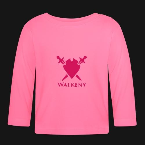 Das Walkeny Logo mit dem Schwert in PINK! - Baby Langarmshirt