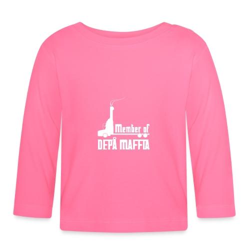 Depå Maffia vitt tryck - Långärmad T-shirt baby