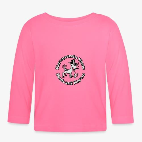 Kerwevereinslogo schwarz-weiss - Baby Langarmshirt