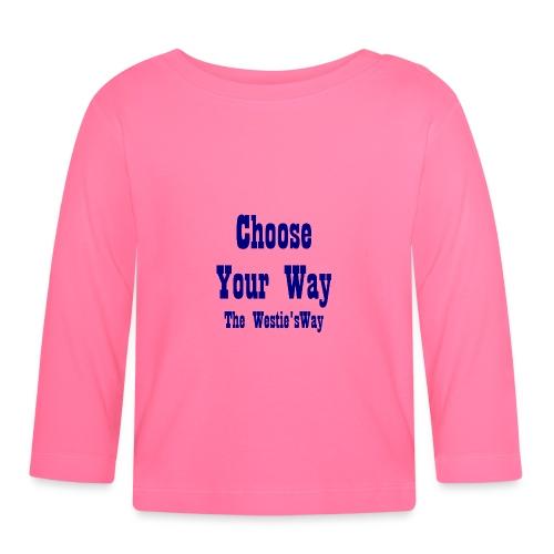 Choose Your Way Navy - Koszulka niemowlęca z długim rękawem