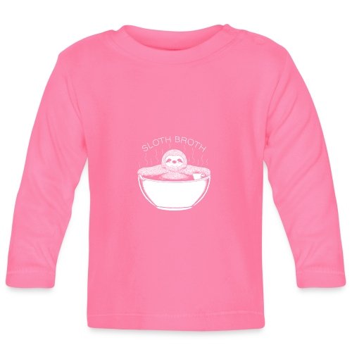 Sloth Broth White - Baby Long Sleeve T-Shirt