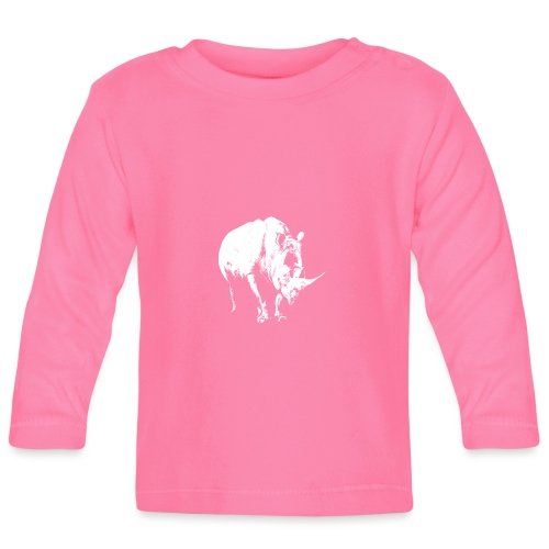 White Rhinoceros (highlights only) - Baby Long Sleeve T-Shirt