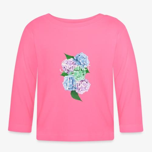 Summer Vintage Hydrangea floral by patjila - Baby Long Sleeve T-Shirt