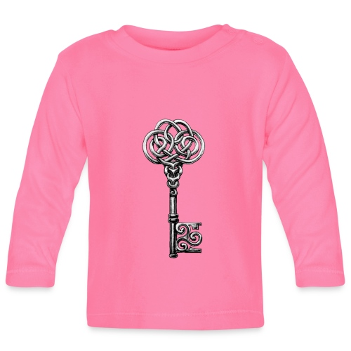 CHAVE-celtic-key-png - Camiseta manga larga bebé