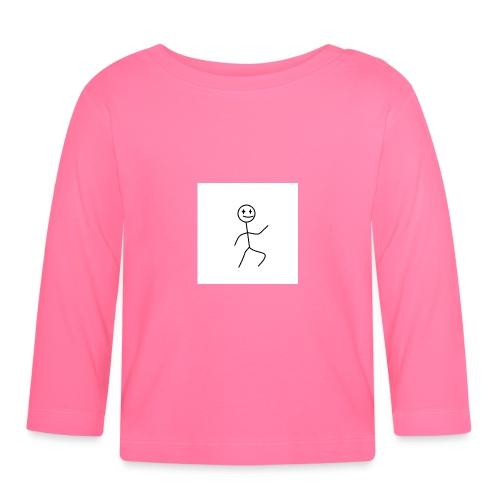 stick man t-shirt dance 1,0 - Langærmet babyshirt