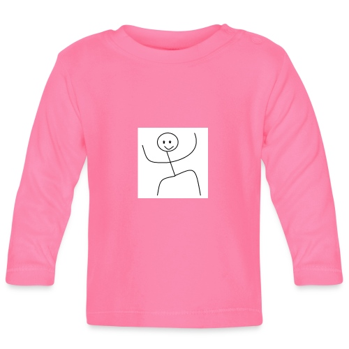 lady t-shirt stick man - Langærmet babyshirt