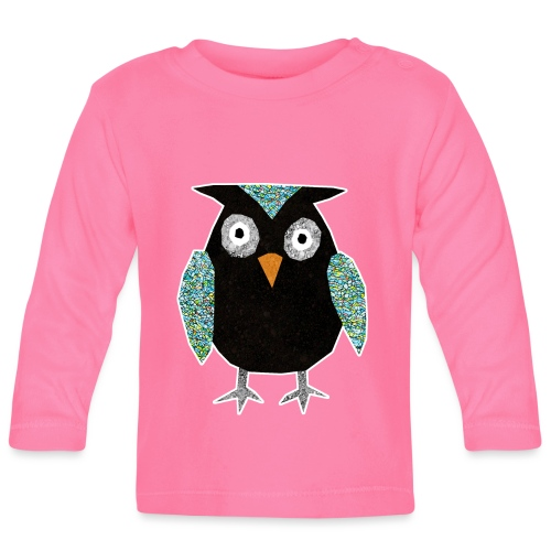 Collage mosaic owl - Baby Long Sleeve T-Shirt