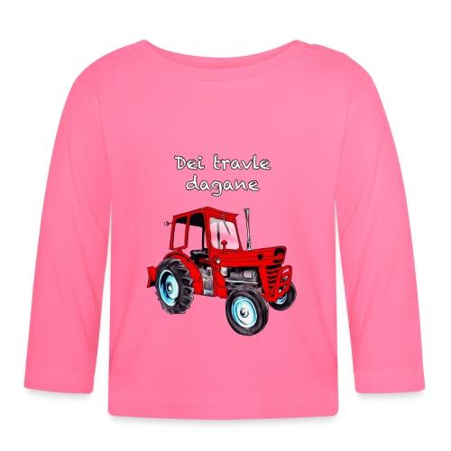 Traktor - Langarmet baby-T-skjorte