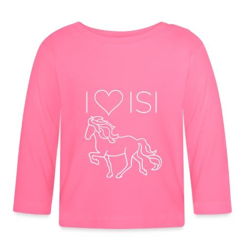 I love Isi, weiß - Baby Langarmshirt