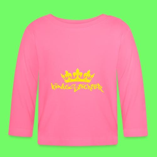 Königstochter m. Krone über der stylischen Schrift - Baby Langarmshirt