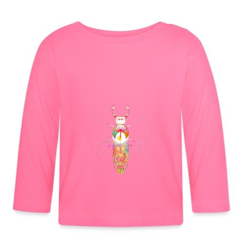 insekt skalbagge med munklor / mandibles rosa - Långärmad T-shirt baby
