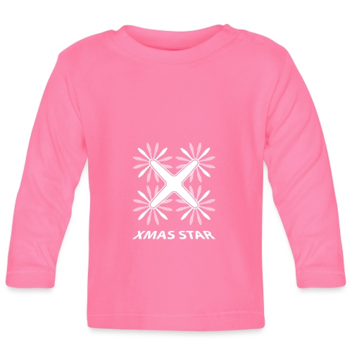 Nouvelle étoile de Noël (version blanche) - T-shirt manches longues Bébé