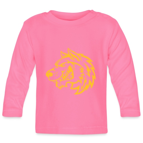 kun ulv - Langærmet babyshirt