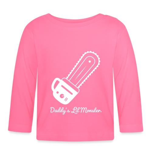 Daddys Lil Monster - Baby Langarmshirt