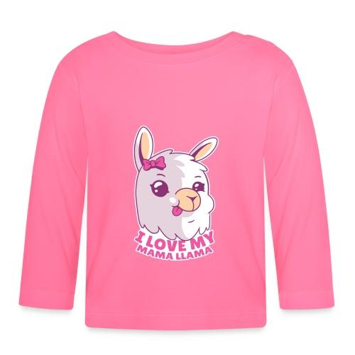 I Love My Mama Llama - Baby Langarmshirt